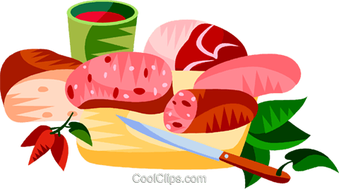EU European cuisine Royalty Free Vector Clip Art illustration vc111427