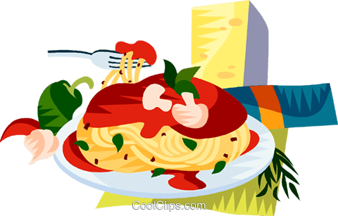 EU European cuisine spaghetti Royalty Free Vector Clip Art illustration vc111433