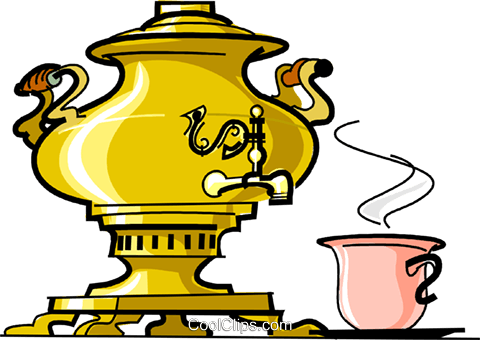 Russian cuisine samovar Royalty Free Vector Clip Art illustration vc111442