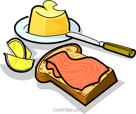 Russian cuisine sandwich with salmon Royalty Free Vector Clip Art illustration vc111443