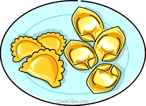 Russian cuisine pelmens meat dumplings Royalty Free Vector Clip Art illustration vc111454