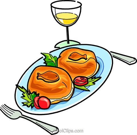 Russian cuisine pierogi with fish Royalty Free Vector Clip Art illustration vc111457