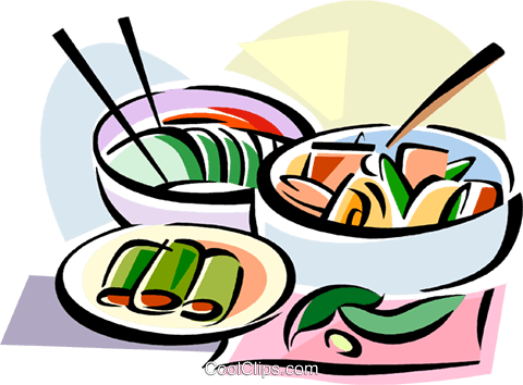 Korean cuisine Kimchi Royalty Free Vector Clip Art illustration vc111461