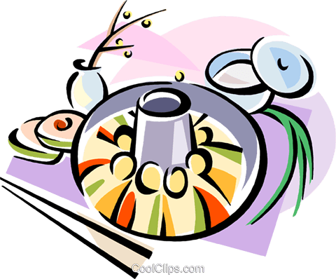Korean cuisine Shinsolo BBQ Royalty Free Vector Clip Art illustration vc111465