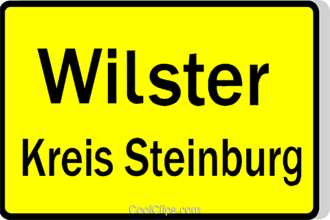 German road sign, start of city Royalty Free Vector Clip Art illustration vc111483