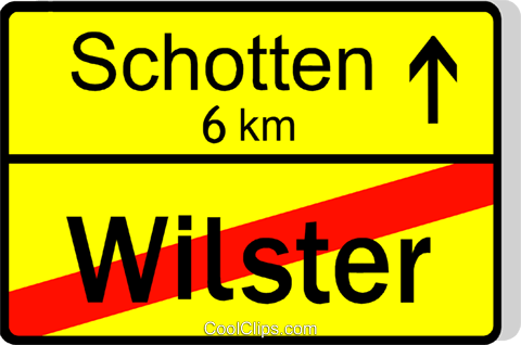 German road sign, end of city Royalty Free Vector Clip Art illustration vc111484