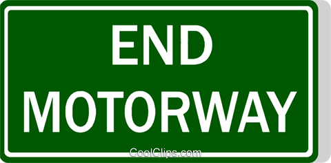 Australian road sign, End Motorway Royalty Free Vector Clip Art illustration vc111493