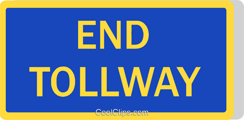 Australian road sign, End Toll way Royalty Free Vector Clip Art illustration vc111496