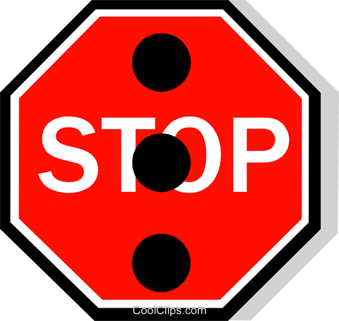 Australian road sign, Stop Sign Royalty Free Vector Clip Art illustration vc111499