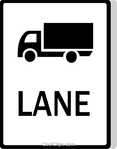 Australian road sign, Truck Lane Royalty Free Vector Clip Art illustration vc111500