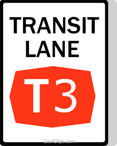 Australian road sign, Transit Lane Royalty Free Vector Clip Art illustration vc111502