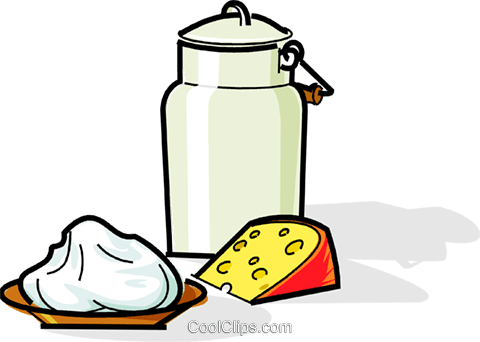 Russian Tvorog with milk and cheese Royalty Free Vector Clip Art illustration vc111505