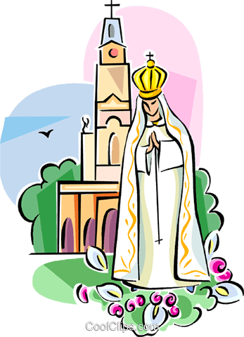 Religious icon Our Lady of Fatima Royalty Free Vector Clip Art illustration vc111513
