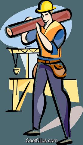 建筑工人 免版税矢量剪贴画插图