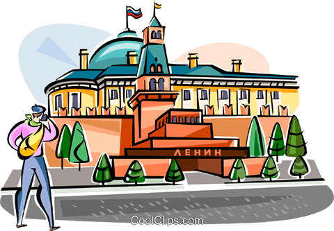 Russia Mausoleum to Lenin Royalty Free Vector Clip Art illustration vc111533