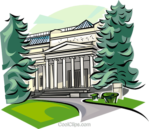 Russia Pushkin Museum of Fine Arts Royalty Free Vector Clip Art illustration vc111534
