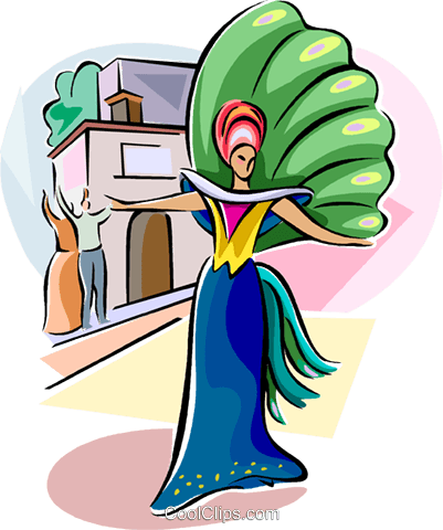 Brazilian carnival Royalty Free Vector Clip Art illustration vc111548