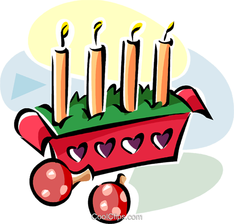 Swedish Advent candles Royalty Free Vector Clip Art illustration vc111551