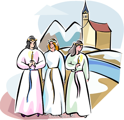 Swedish Advent Choir Royalty Free Vector Clip Art illustration vc111553