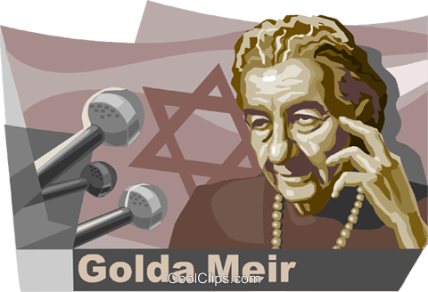 Golda Meir Founder of the state of Israel Royalty Free Vector Clip Art illustration vc111558