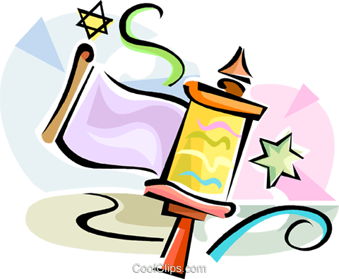 Hebrew Purim rattle Royalty Free Vector Clip Art illustration vc111568