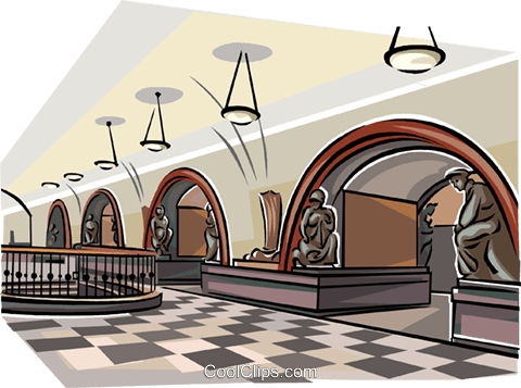 Moscow Subway - Ploschad Revolutsii Royalty Free Vector Clip Art illustration vc111573