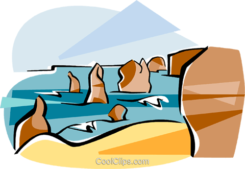 Australia Port Campbell Royalty Free Vector Clip Art illustration vc111579