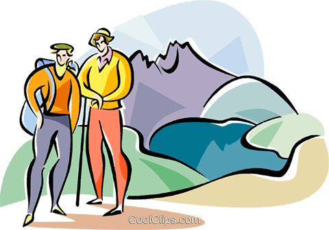 Australia Cradle Mountain Royalty Free Vector Clip Art illustration vc111583