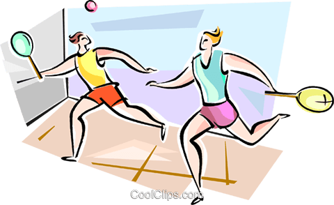 Squash players Royalty Free Vector Clip Art illustration vc111596