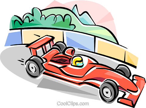 Formula One racing Royalty Free Vector Clip Art illustration vc111597