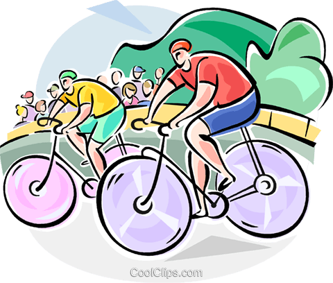 Bicycle Racing Royalty Free Vector Clip Art illustration vc111599