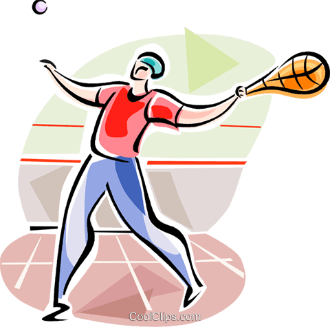 Fronton Players (Basque Country) Royalty Free Vector Clip Art illustration vc111602
