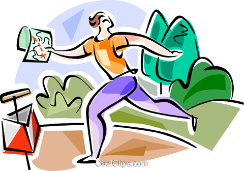 Orienteering Royalty Free Vector Clip Art illustration vc111603