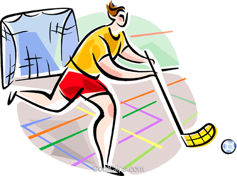 Innebandy player Royalty Free Vector Clip Art illustration vc111605