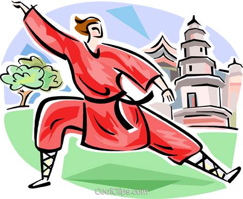 Chinese GongFu Royalty Free Vector Clip Art illustration vc111609