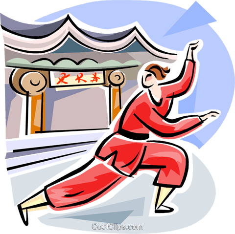 Chinese GongFu Royalty Free Vector Clip Art illustration vc111610