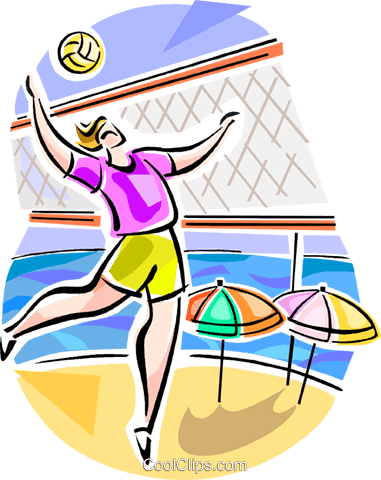 Brazilian beach volleyball Royalty Free Vector Clip Art illustration vc111611