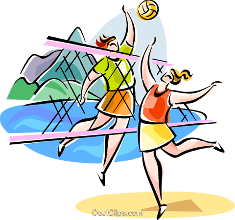 Brazilian beach volleyball Royalty Free Vector Clip Art illustration vc111612