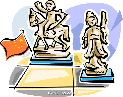 Chinese chess Royalty Free Vector Clip Art illustration vc111615