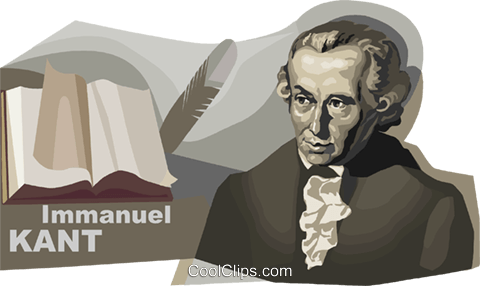 German Philosopher Immanuel Kant Royalty Free Vector Clip Art illustration vc111618