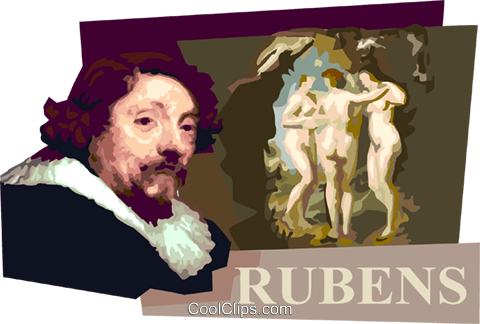 Peter Paul Rubens Royalty Free Vector Clip Art illustration vc111622