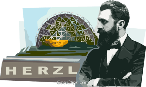 Theodor Herzl founder of modern Zionism Royalty Free Vector Clip Art illustration vc111623