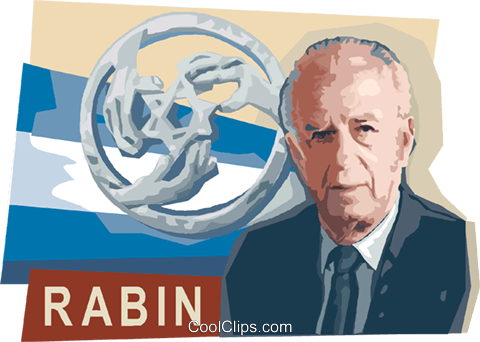 Yitzhak Rabin Royalty Free Vector Clip Art illustration vc111624