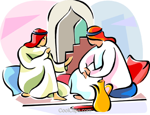 Arabic people Royalty Free Vector Clip Art illustration vc111625