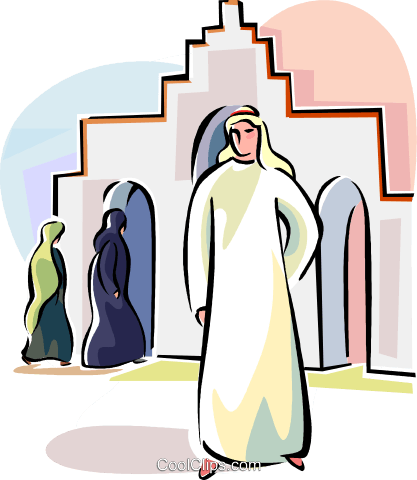 Arabic people Royalty Free Vector Clip Art illustration vc111627