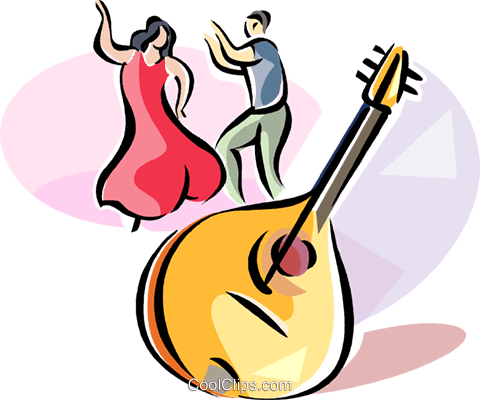 Brazilian Bandolim Mandolin Royalty Free Vector Clip Art illustration vc111633