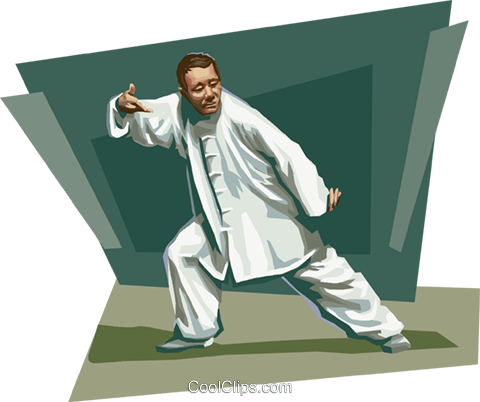 Chinese tai chi Royalty Free Vector Clip Art illustration vc111650