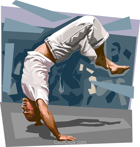 Brazilian capoeira Royalty Free Vector Clip Art illustration vc111651