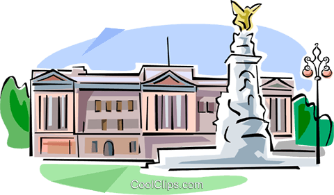 United Kingdom Buckingham Palace Royalty Free Vector Clip Art illustration vc111661