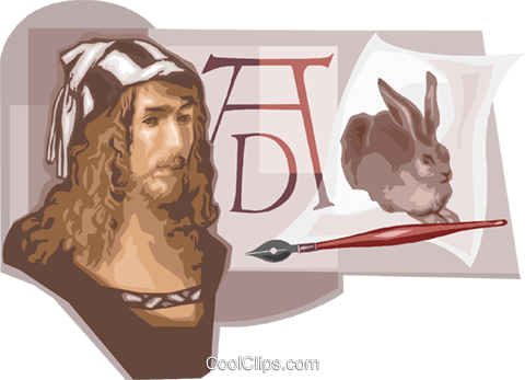 Albrecht Durer Artist Royalty Free Vector Clip Art illustration vc111668